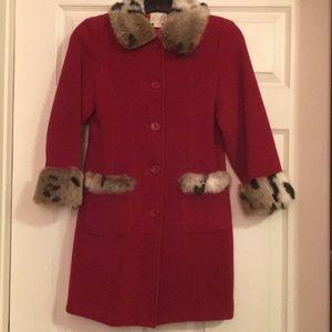 Girls Wool Blend Coat